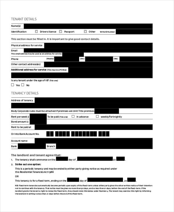 Free tenant agreement (+89 similar docs)