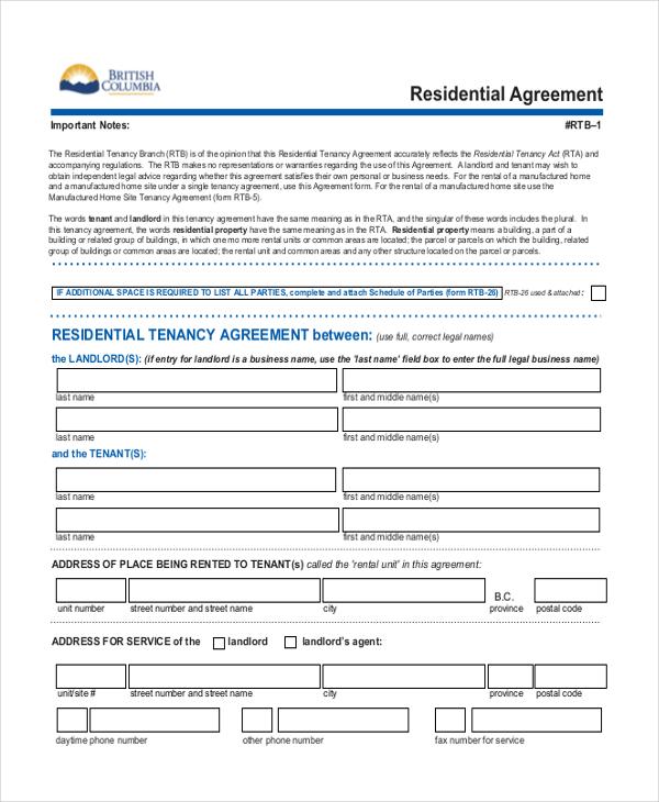 Tenancy agreement form free doc tenant agreement form free tenant agreement form free