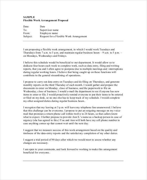 Free Job Proposal Templates Datariouruguay