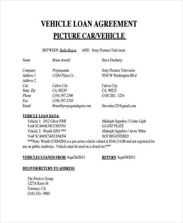 Washington loan agreement