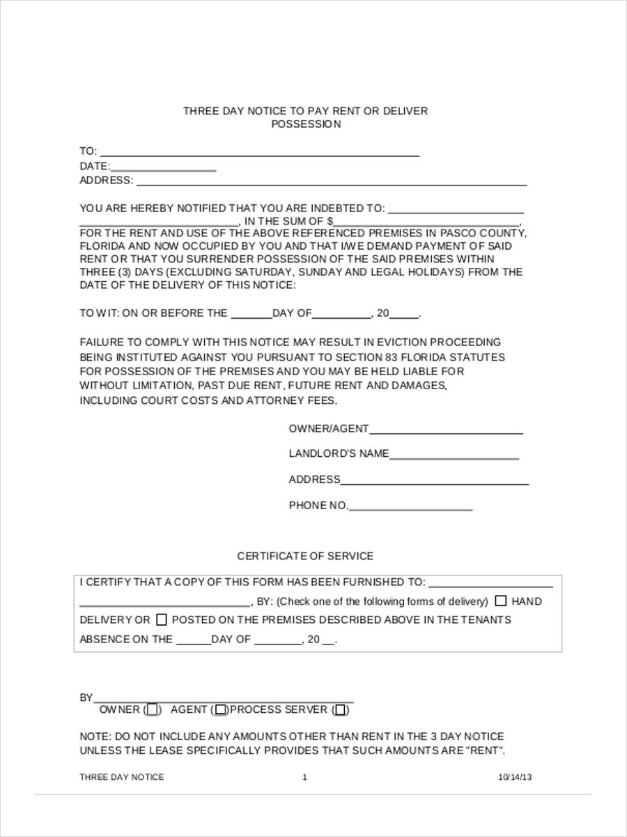 eviction notice form - solarfm.tk