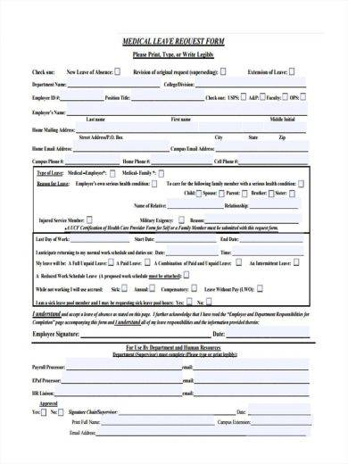 Home instruction medical request form