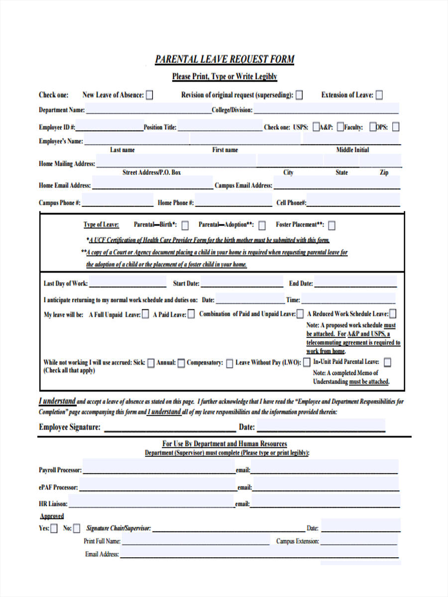 Leave request form solarfm 12 sample leave request forms sample templates thecheapjerseys Image collections