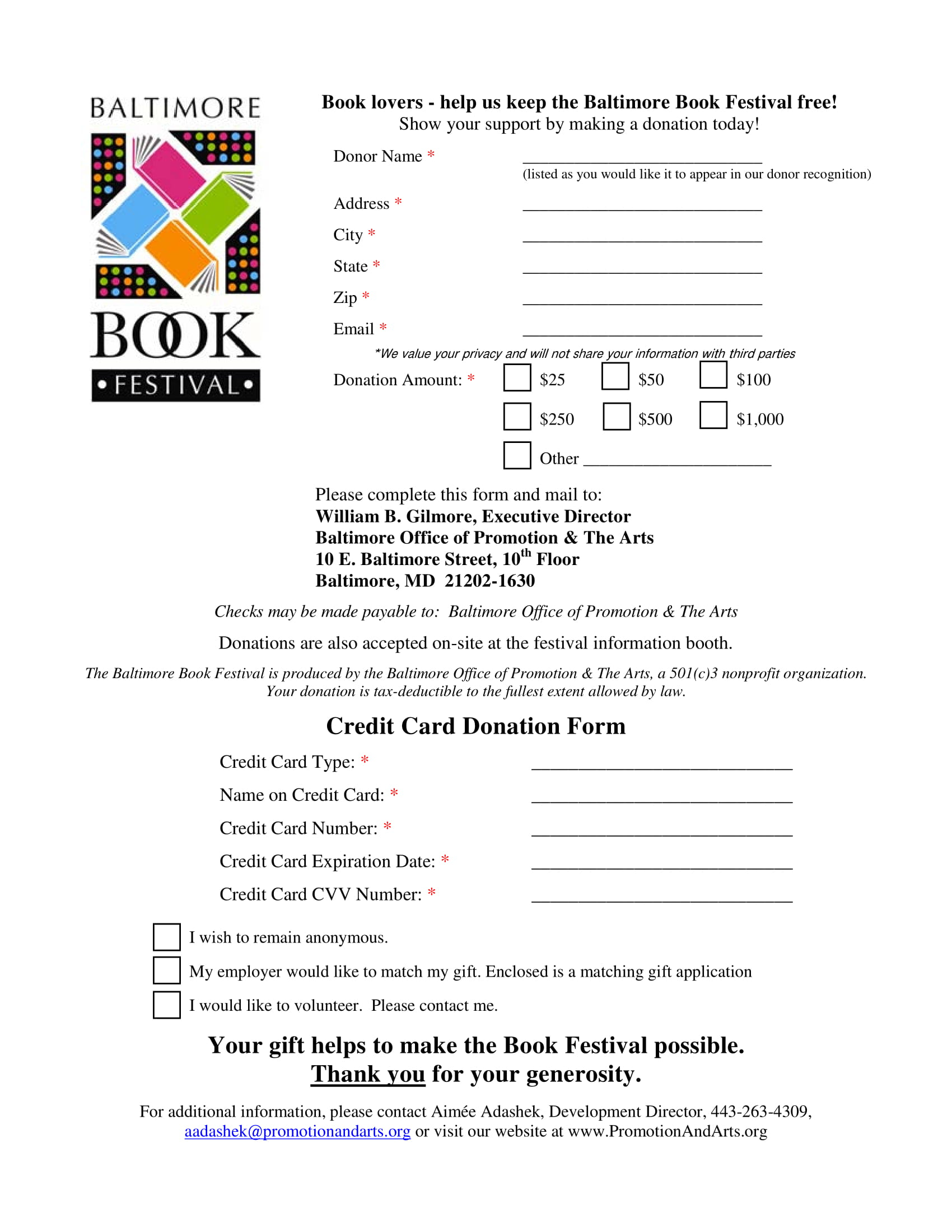 what is donation form