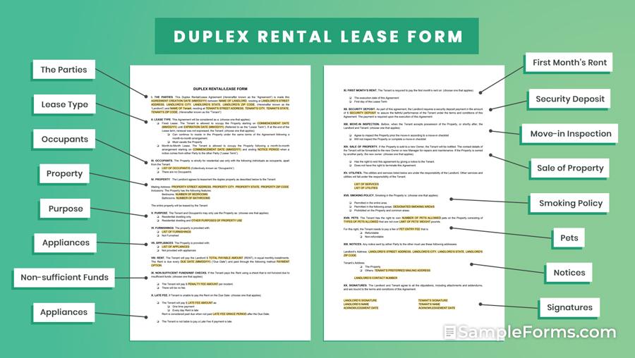 DUPLEX RENTALLEASE FORM