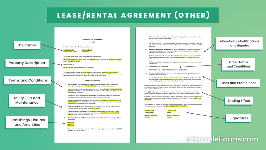 LEASERENTAL AGREEMENT Other