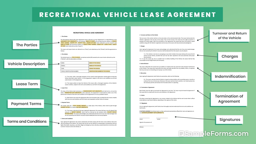 RECREATIONAL VEHICLE LEASE AGREEMENT