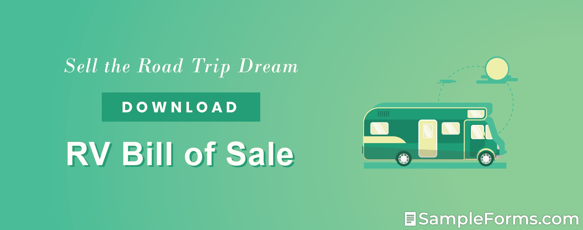 RV Bill of Sale Form1