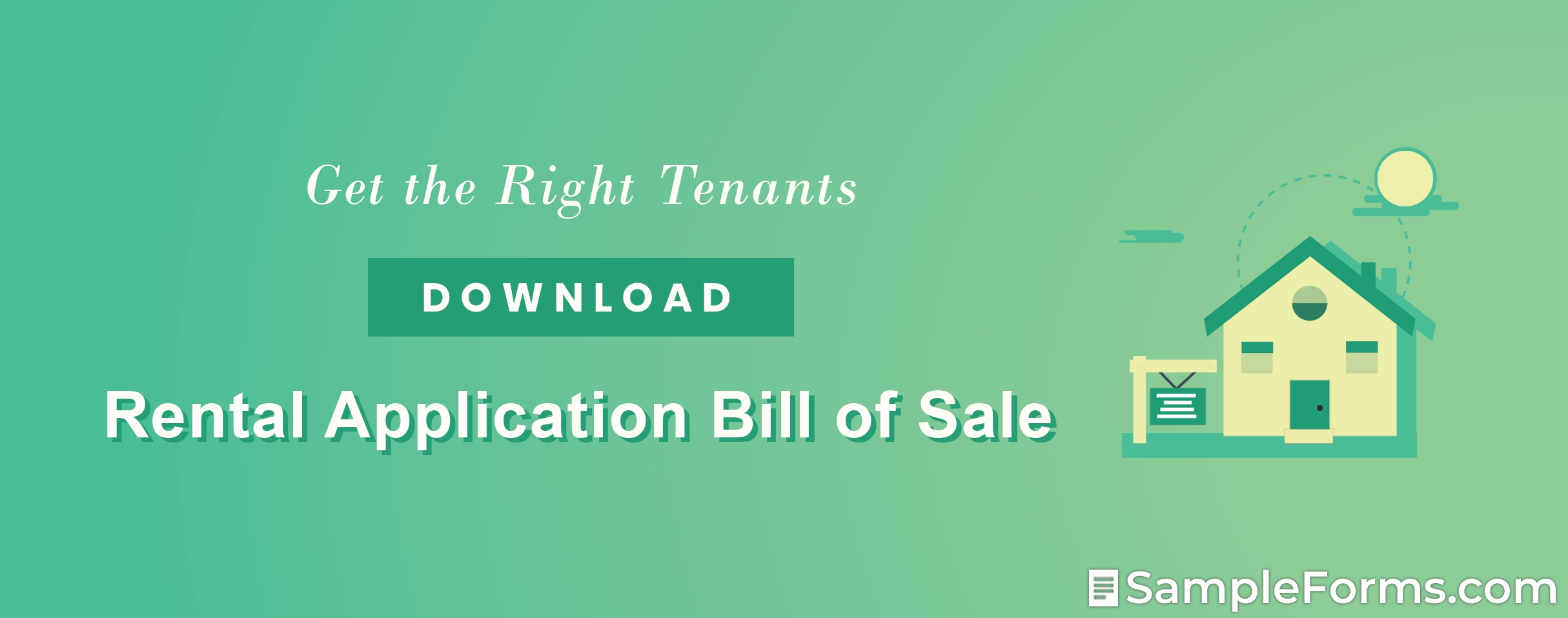 Rental Application Bill of Sale Form
