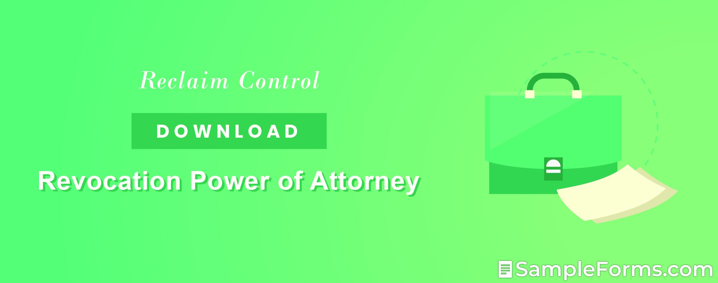 Revocation Power of Attorney