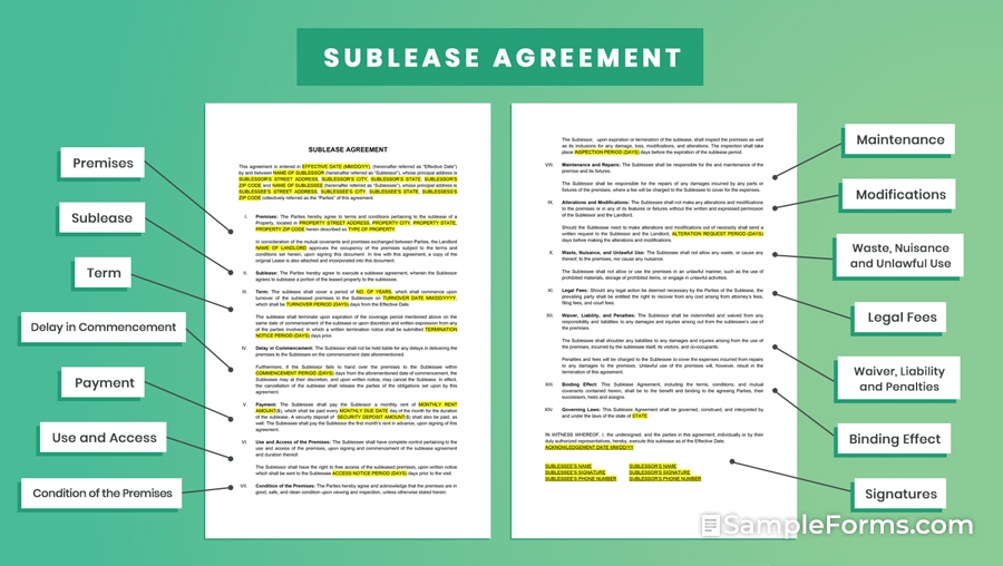 SUBLEASE-AGREEMENT