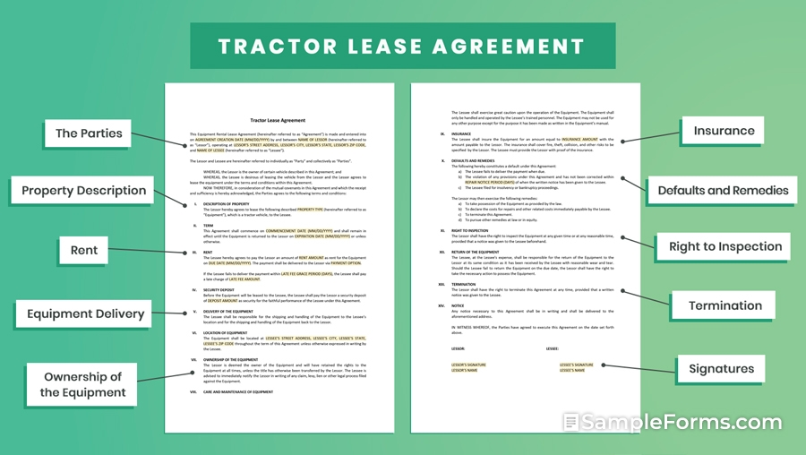 Tractor Lease Agreement