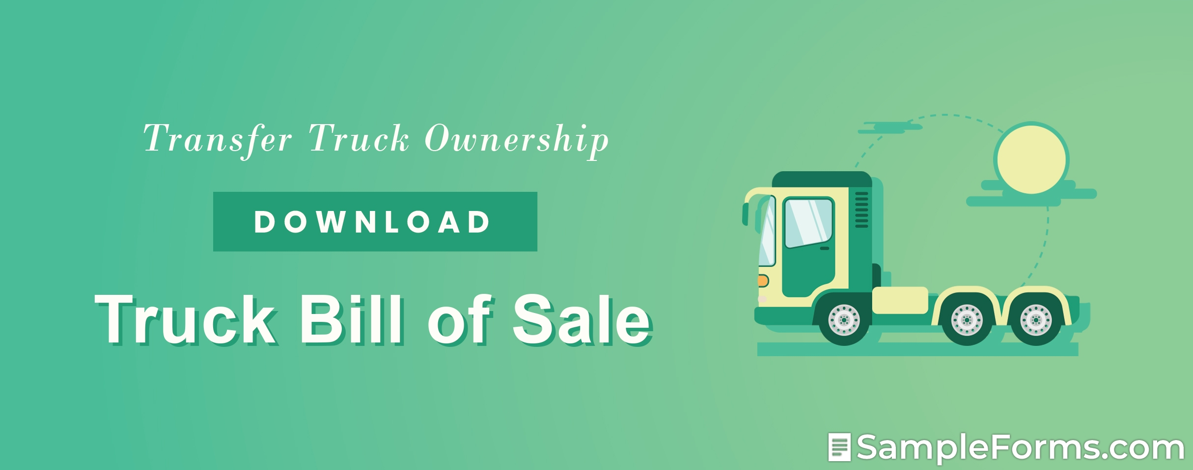 Truck Bill of Sale Form