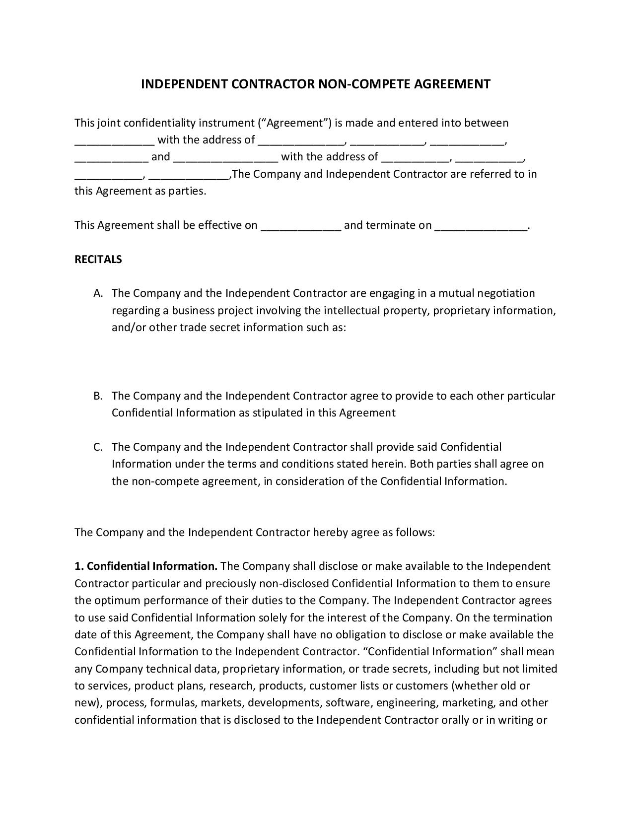 independentcontractornoncompeteagreement