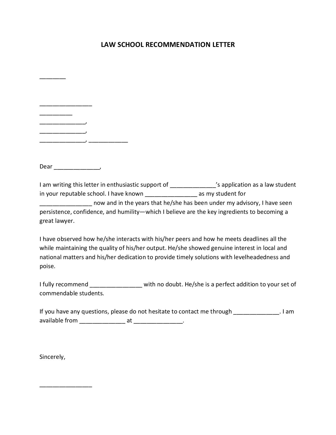 lawschoolrecommendationletter