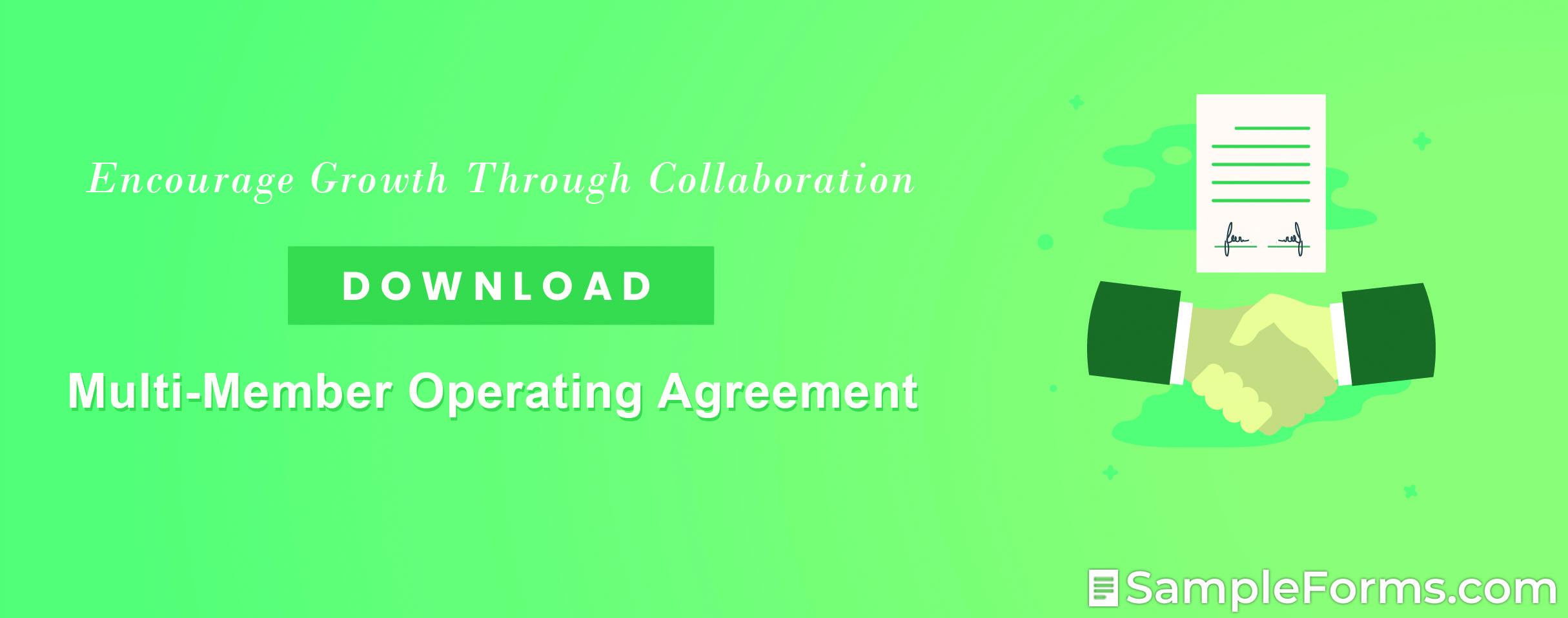 Multi Member Operating Agreement1