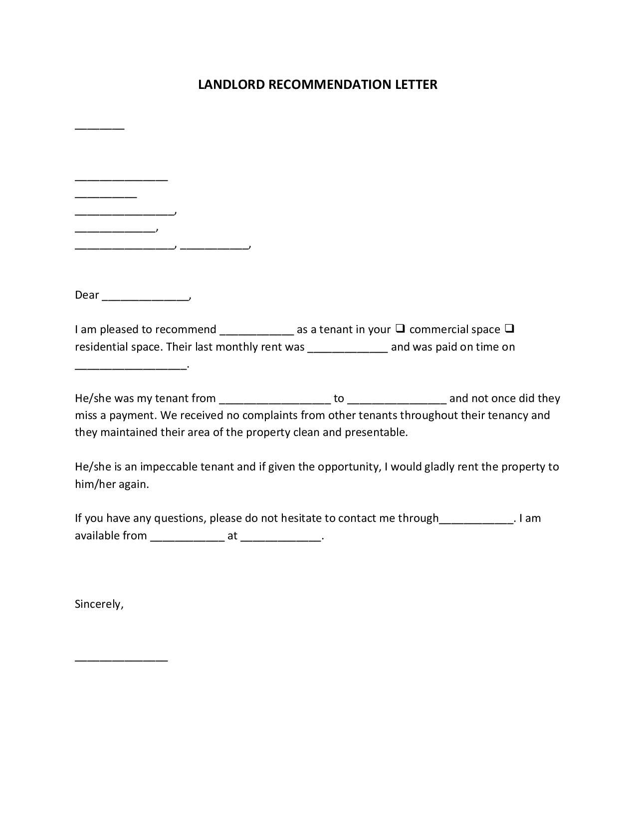 tenantlandlordrecommendationletter
