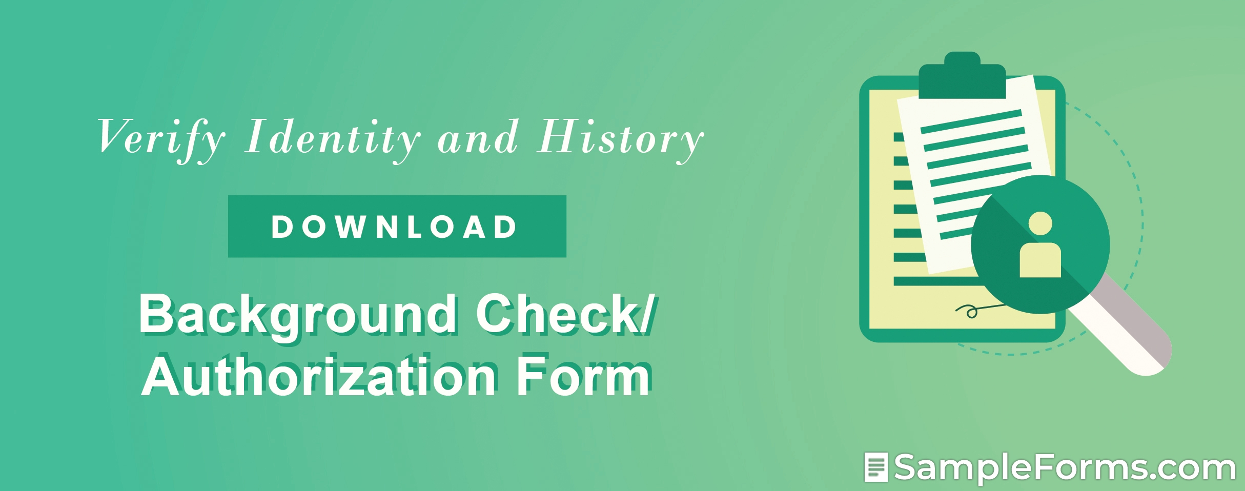 Background CheckAuthorization Form
