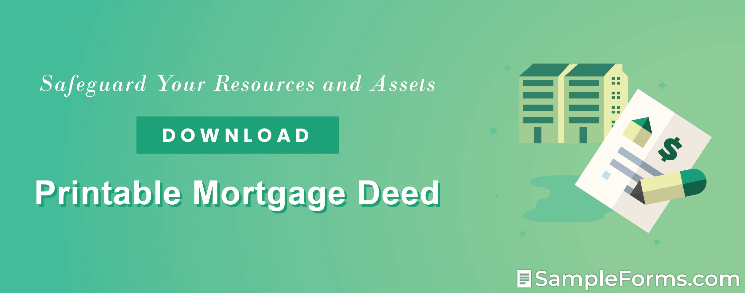 Printable Mortgage Deed