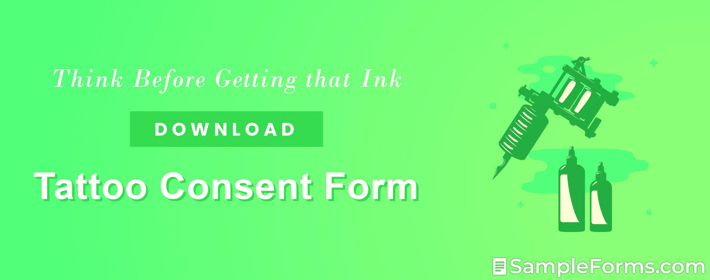 Tattoo Consent Form2