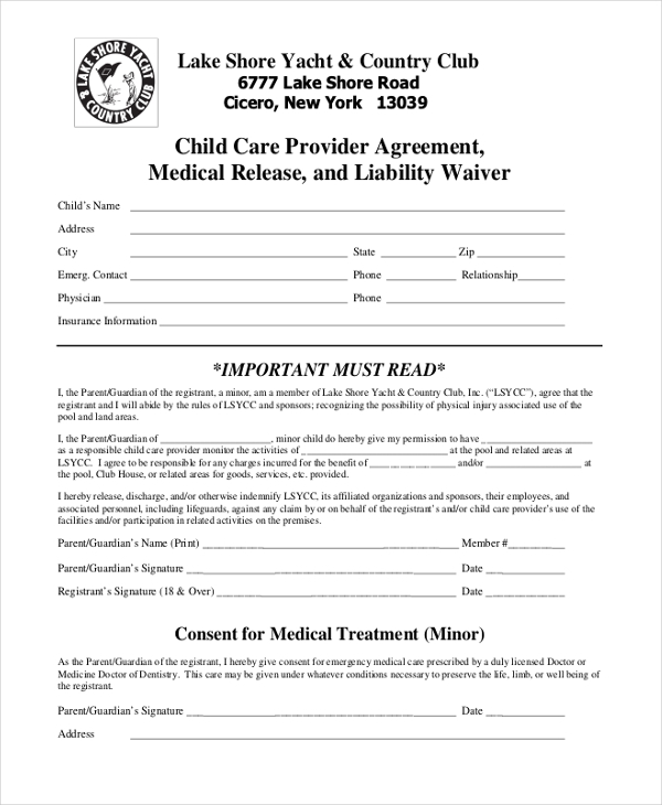 Free 10 Sample Liability Release Form In Pdf Doc