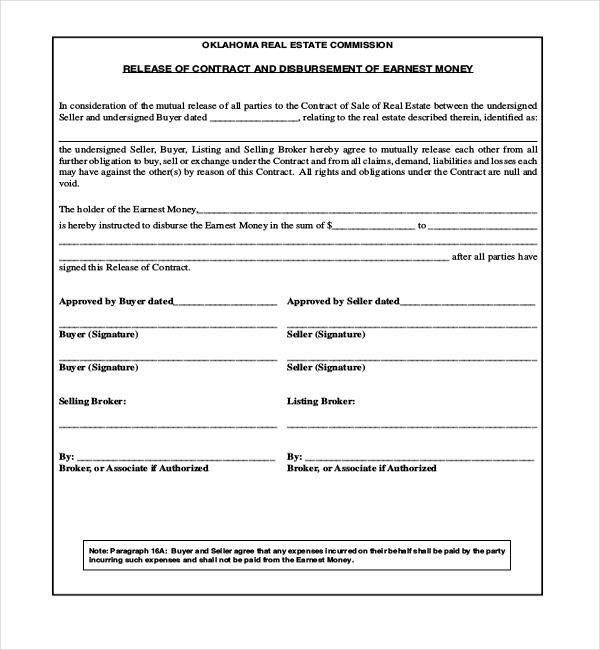 liability release form real estate