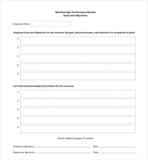 office employee appraisal form