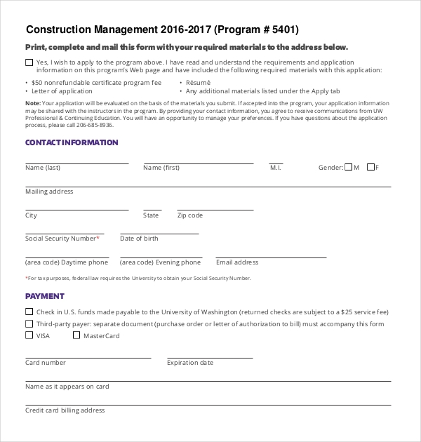 9  sample construction management forms