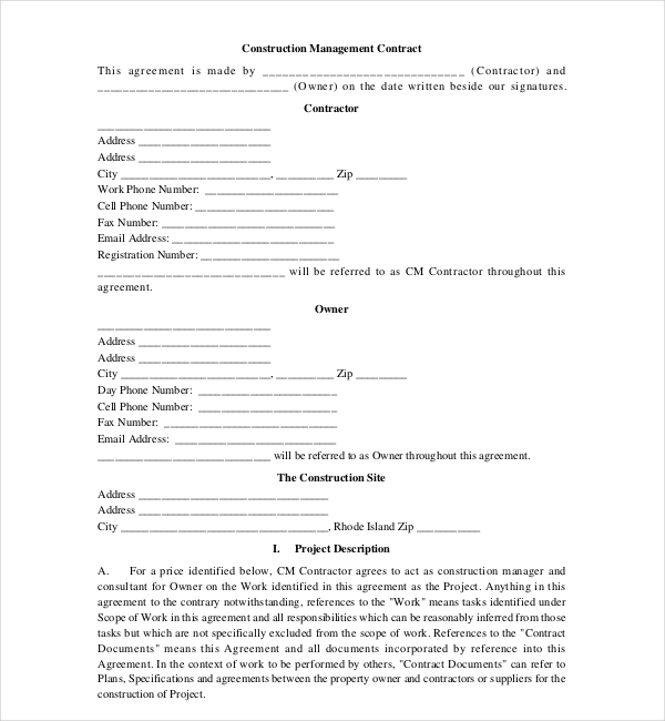 Safety Contract Templates Safety Contract Template  Safety