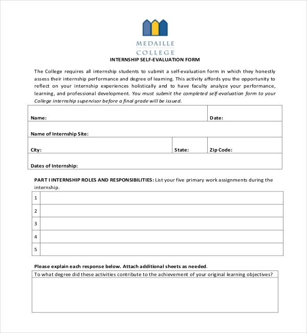 student self evaluation templates - 17 sample student evaluation forms sample forms