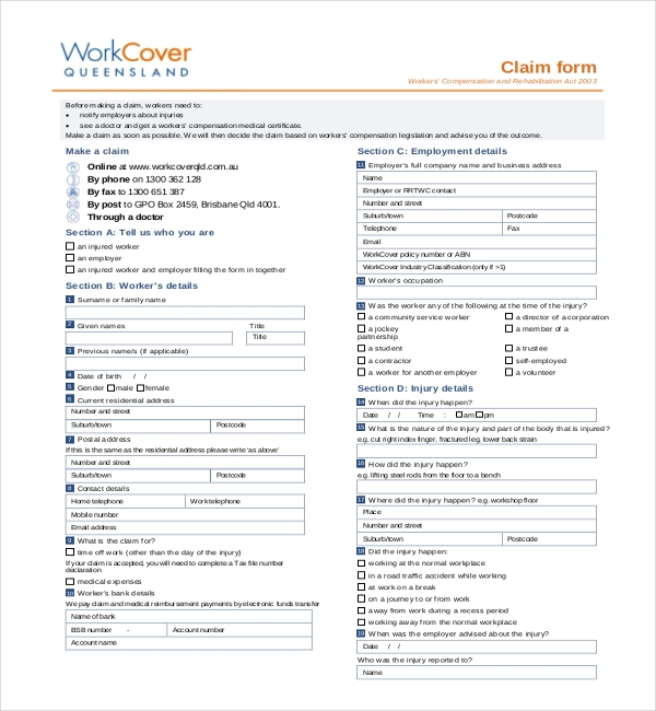 worker compensation form