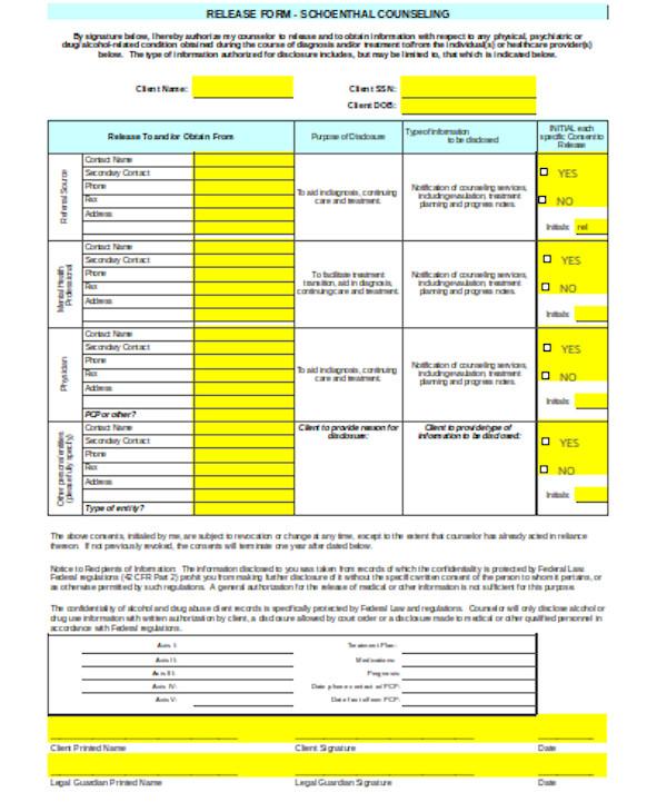 basic general release form