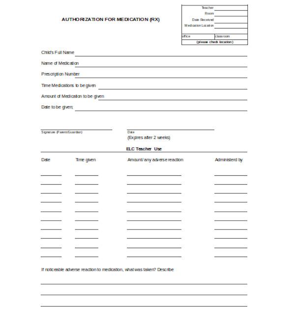 basic medical authorization form