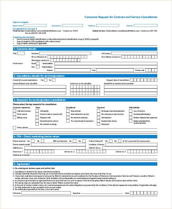Awesome Acord Cancellation Form  Inspirational Insurance