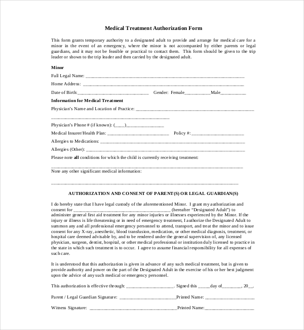 Sample Medical Authorization Form Consent Forms Smartpractice