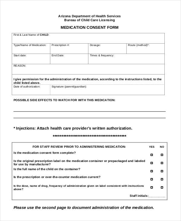 Sample Medical Consent Forms 8 Free Documents in PDF Doc – Sample Medical Consent Form
