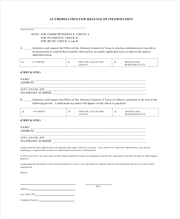 Sample General Release Forms   Free Documents In Pdf Doc