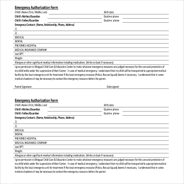 day care medical authorization form1