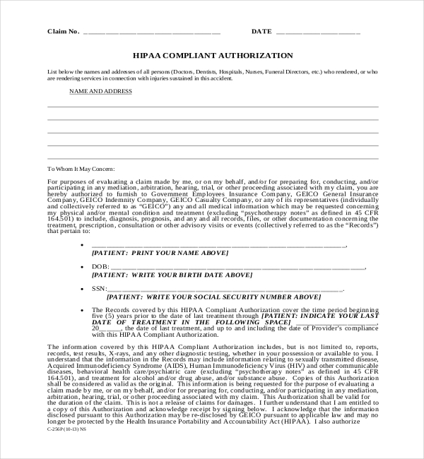 Hipaa Form Hipaa Consent Form New Patient Dental Forms