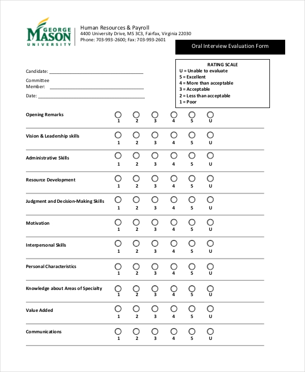 12+ Interview Feedback Form Samples - Free Sample, Example Format ...