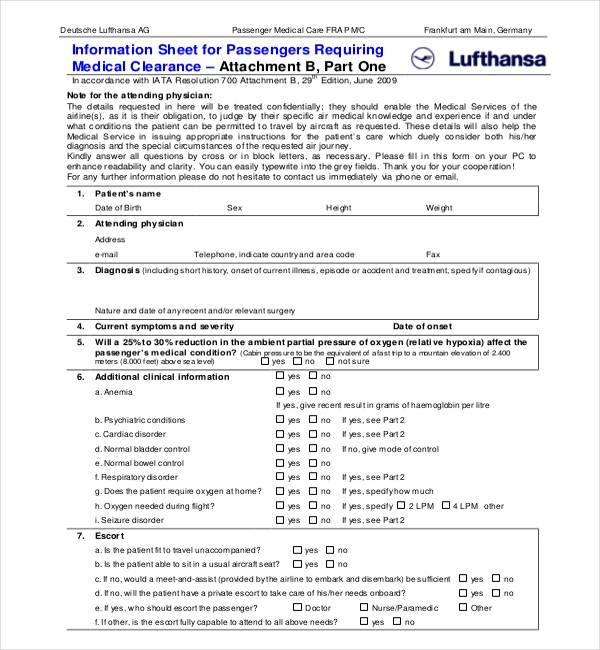 lufthansa-medical-clearance-form Jetstar Medical Forms on medical paperwork, medical charts, medical insurance, medical reports, medical questionnaire, medical documentation, medical papers, medical backgrounds, medical files, medical logo, medical flyers, medical documents, medical signs, medical information, medical records, medical treatment, medical schedule, medical history, medical checklist, medical privacy policy,