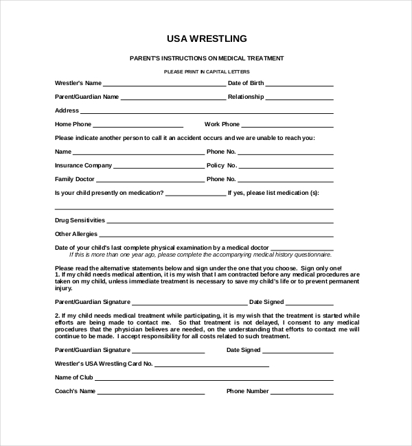 15+ Sample Medical Waiver Forms | Sample Forms