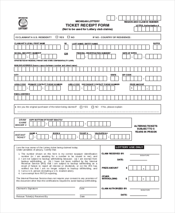 Doc709449 Blank Receipt Form Free Receipt Forms 72 More – Sample of Receipt Form