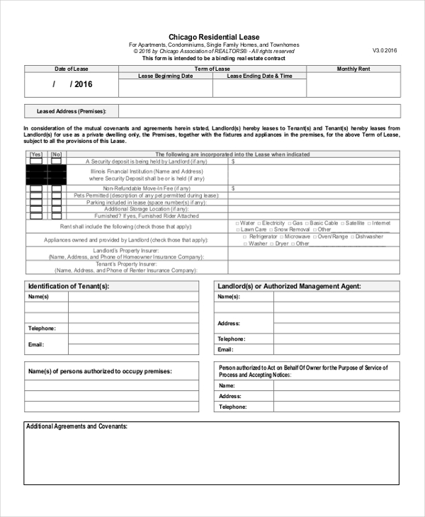 Sample Lease Renewal Forms   Free Documents In Pdf Doc