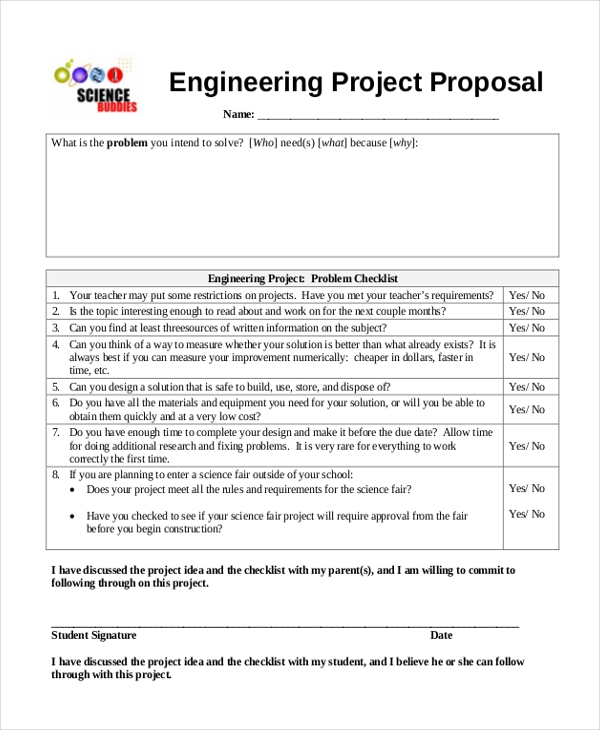 Sample Science Fair Proposal Form   Free Documents In Word Pdf