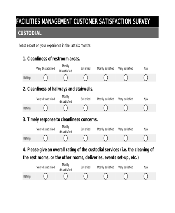 Sample Customer Service Survey Form   Free Documents In Pdf