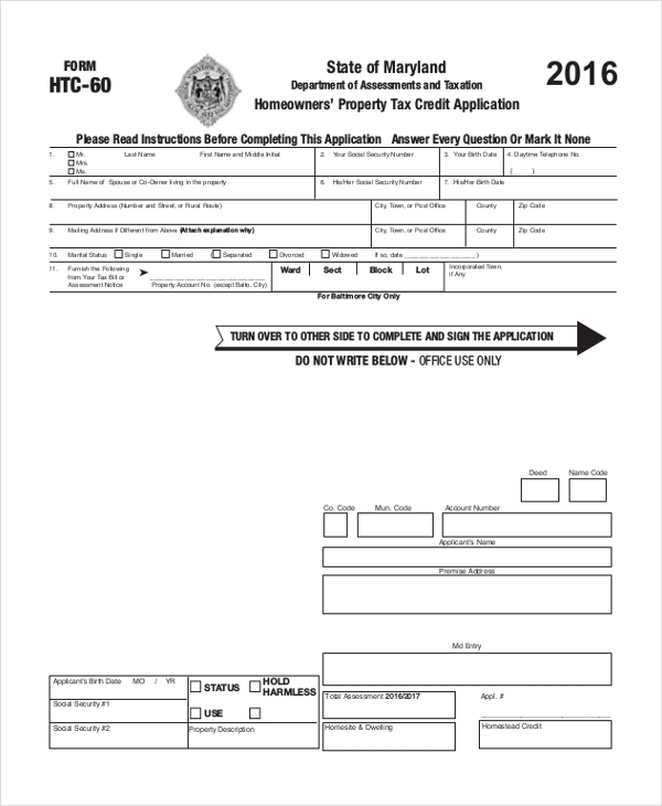 Credit Application Templates  Free Sample Example