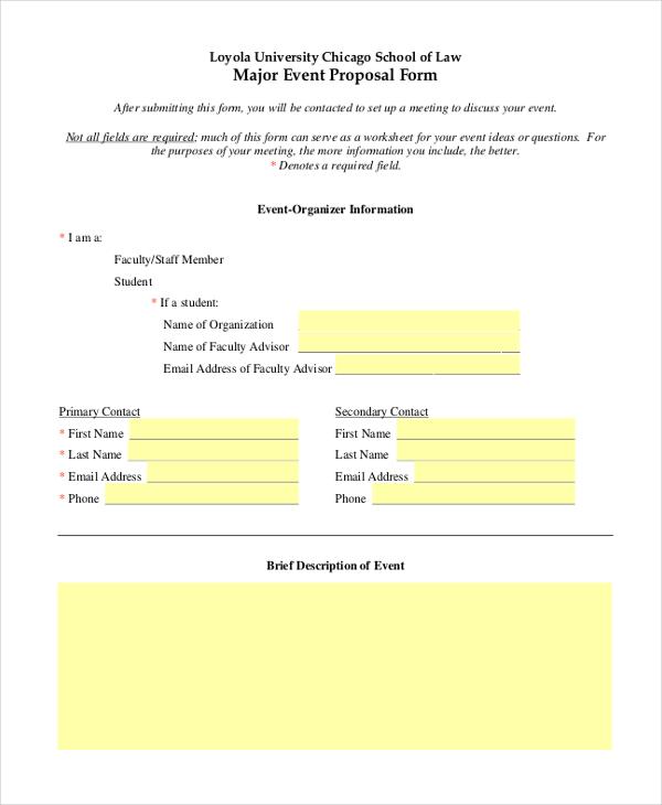 major event proposal form