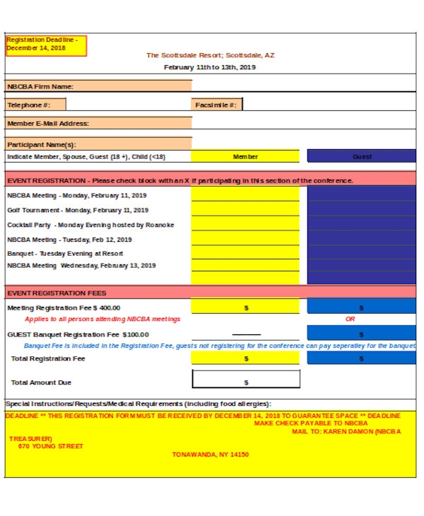 printable event registration form