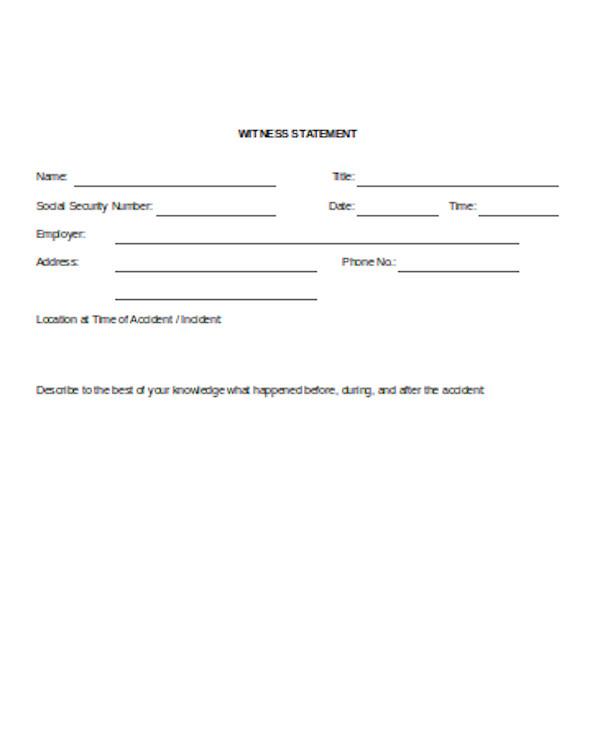 printable witness statement form